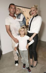Gwen Stefani with her ex-husband Gavin Rossdale and Kids