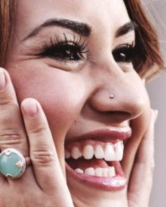 Demi Lovato after Teeth Whitening