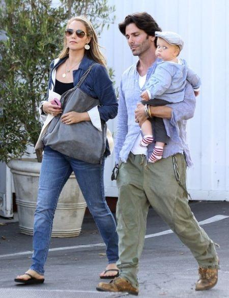 Elizabeth Berkley husband Lauren and son Sky