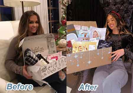 Before & After Snippet of Ariana Biermann's weight loss