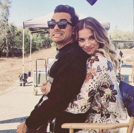Dan Levy with his little sister