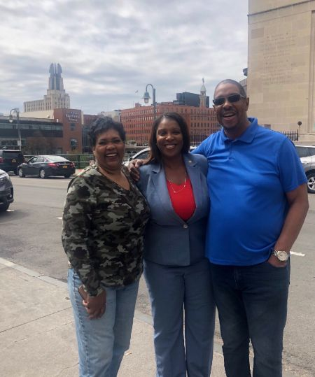 Letitia James, her brother and sister in law