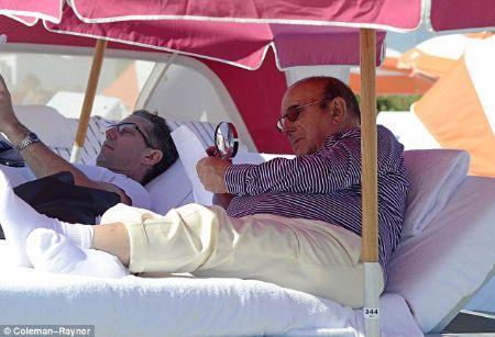 Clive Davis and his boyfriend