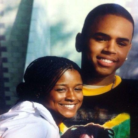 Chris Brown and his manager Tina Davis