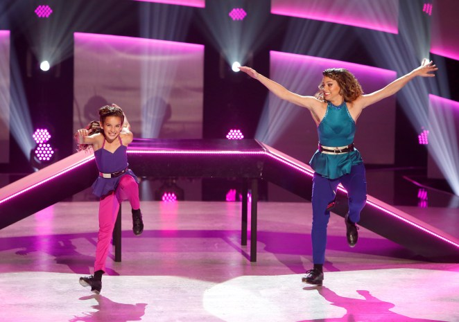 Top 10 contestant Emma Hellenkamp and all-star Gaby Diaz perform a Tap routine on SO YOU THINK YOU CAN DANCE.  ©2016 FOX Broadcasting Co. Cr: Adam Rose