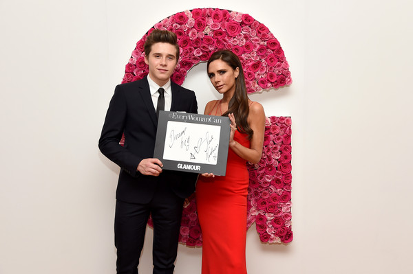 Brooklyn Beckham and mother Victoria Beckham backstage at 2015 Glamour Women of the Year Awards Photo by : Nicholas Hunt/Getty Images North America