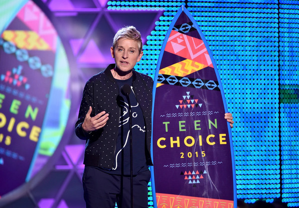Ellen DeGeneres at the 2015 Teen Choice Awards Photo by: Kevin Winter/Getty Images North America