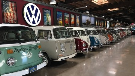 An overview of Gabriel Iglesias' Volkswagen Bus Collection.