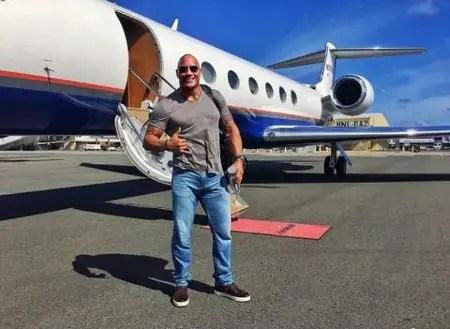 Dwayne The Rock Johnson Private Jet