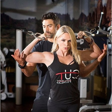 Tamra Judge and Eddie Judge doing cardio for CUT Fitness.