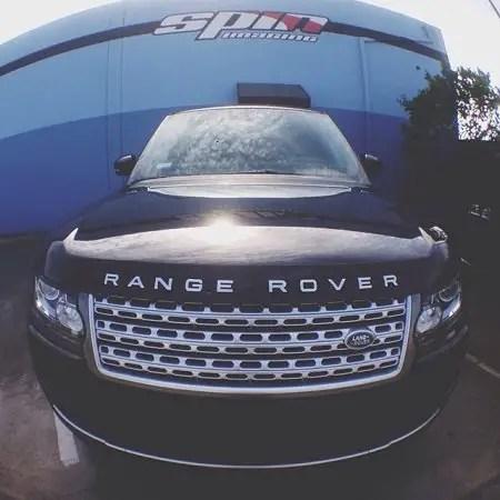 Kylie Jenner's Black Range Rover.