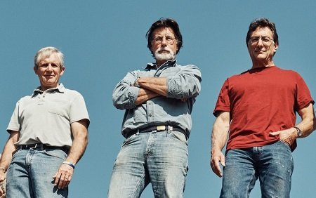 Craig Tester, Rick Lagina and Marty Lagina in a promotional photo for The Curse of Oak Island.