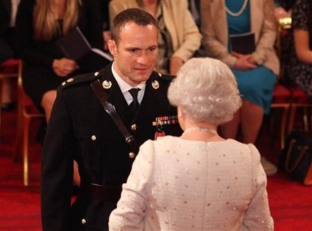 Henry Cavill's younger brother Nick Cavill being awarded the MBE.