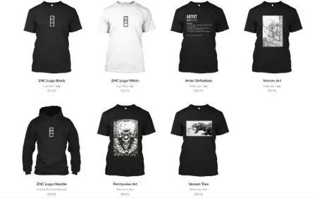ZHC Merch, T-Shirt, Hoodies