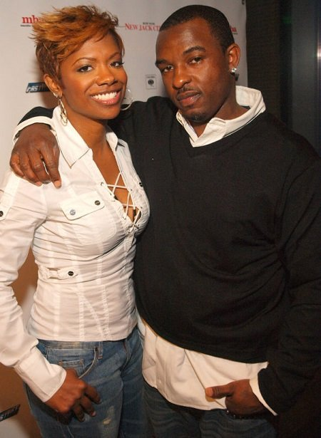 Kandi Burruss and ex-fiance Ashley Jewell attend the album release party for New Jack City II at Aquaknox Atlanta on April 2, 2009, in Atlanta.
