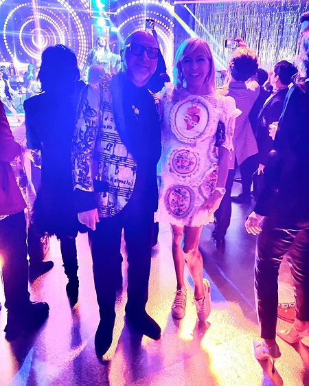 Domenico Dolce with Sutton Stracke at a dance party.