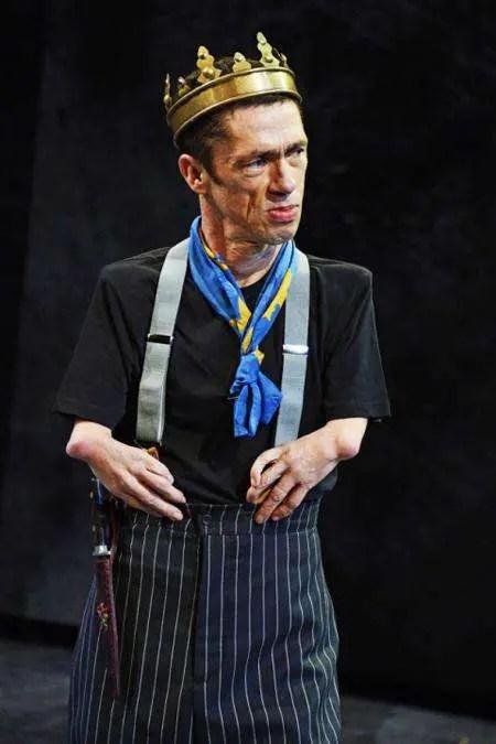 Mat Fraser as King Richard III in a play.