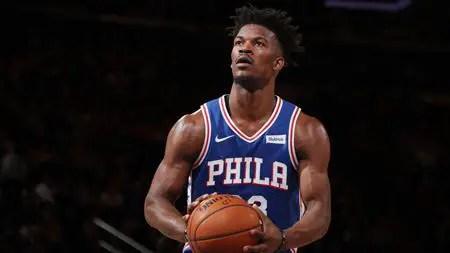 Jimmy Butler played for the Philadelphia 76ers last season.