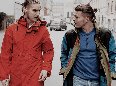 Marco Ilsø and Alex Høgh Andersen auditioned for Vikings at the same time.