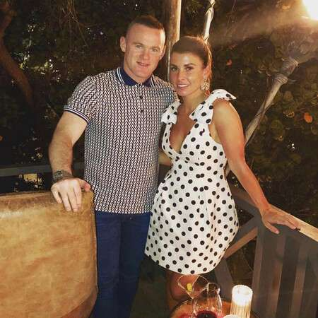 Coleen Rooney with her husband Wayne Rooney.