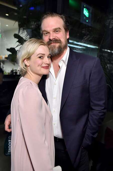David Harbour and girlfriend Alison Sudol began dating in 2018.