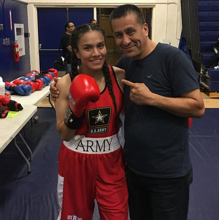 Shakur Stevenson's GF Jajaira Gonzalez played boxing for the Army team.