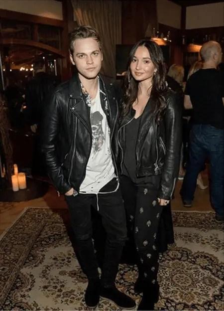 Alexander Calvert and his girlfriend Jenna Berman.
