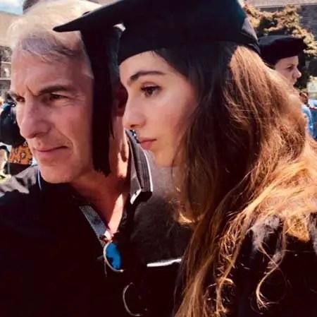Madeleine Stowe's husband Brian Benben and daughter May Theodora during her graduation.