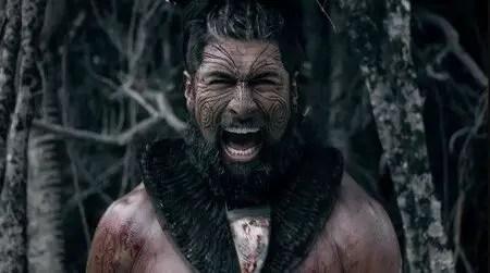 Te Kohe Tuhaka as Waka Nuku Rao in The Dead Lands Shudder.