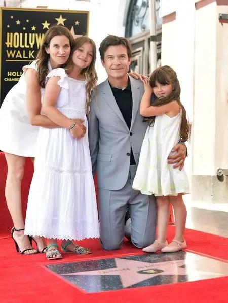 Jason Bateman with his wife, Amanda Anka, and daughters, Francesca Nora Bateman and Maple Sylvie Bateman.