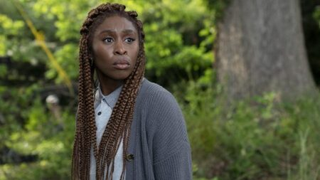 Cynthia Erivo as Holly Gibney in the HBO drama The Outsider.