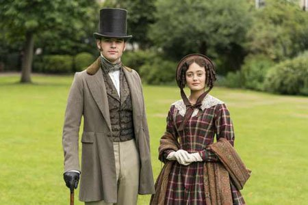 Jack Bardoe and Ella Purnell play in love couple Charles Pope and Lady Maria Grey in the ITV/Epix series Belgravia.