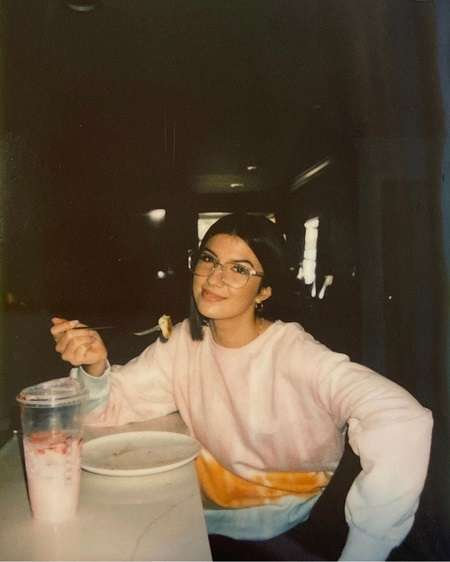 Ellie Zeiler finishing up her pancake.