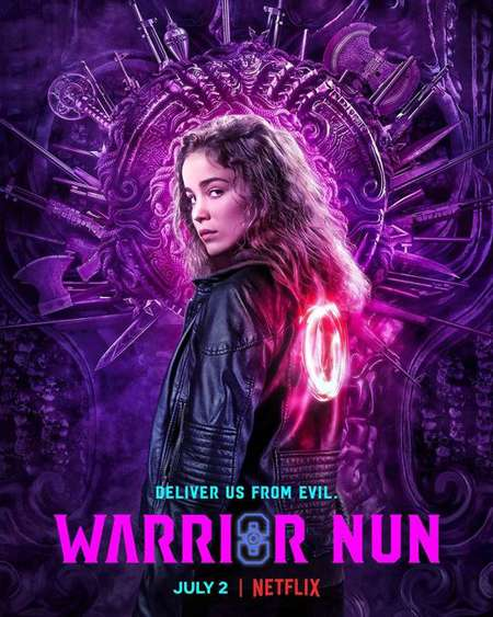 Alba Baptista plays Ava in the Netflix series Warrior Nun.