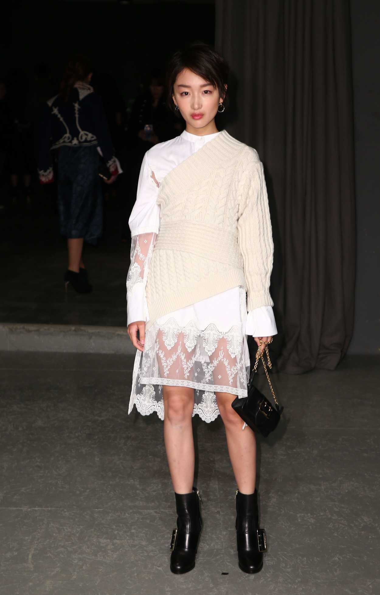 Zhou Dongyu At The Burberry Show During The London Fashion