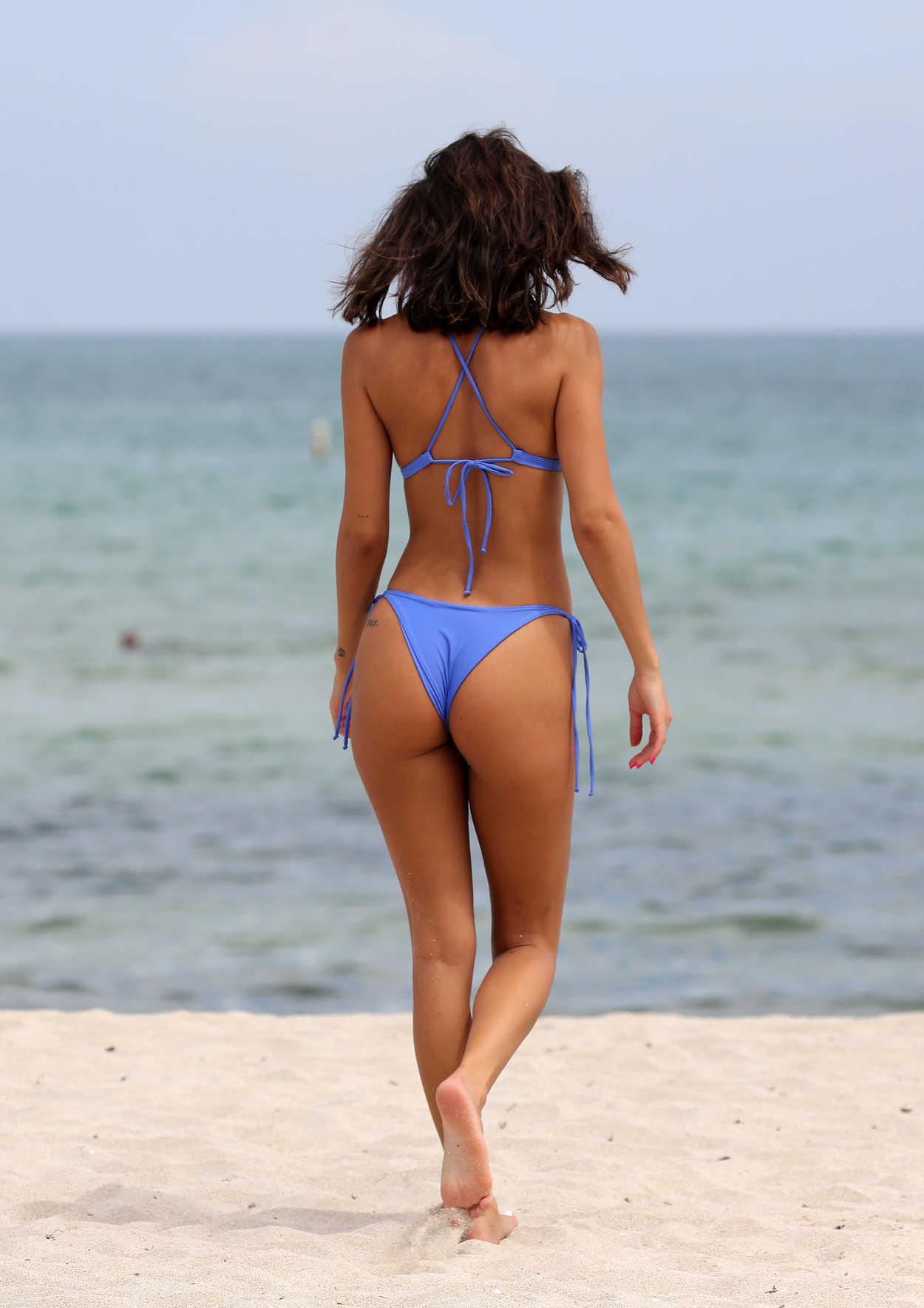 Chantel Jeffries In A Blue Bikini On The Beach In Miami 09