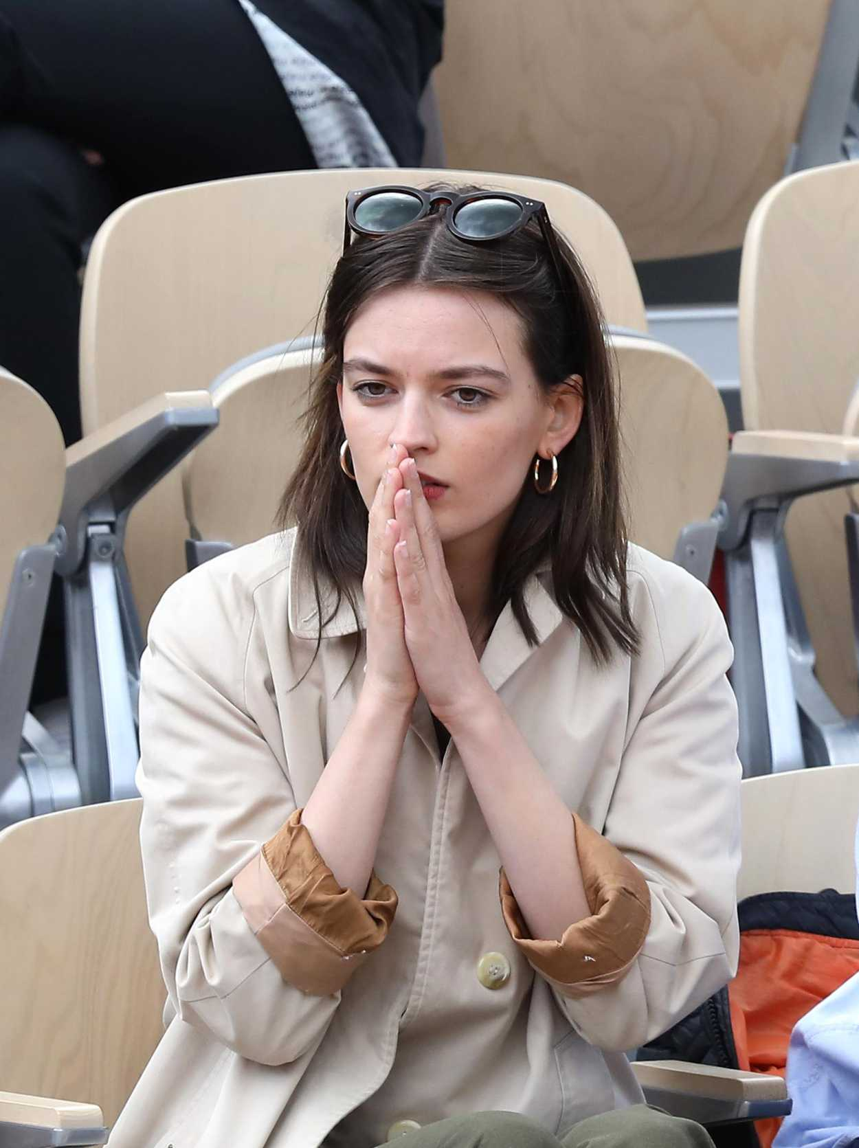 Emma Mackey Attends French Tennis Open At Roland Garros In