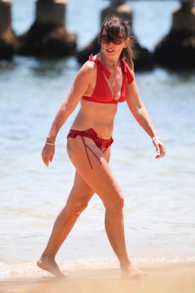 Davina Mccall In A Red Bikini On The Beach In Sydney 12 28