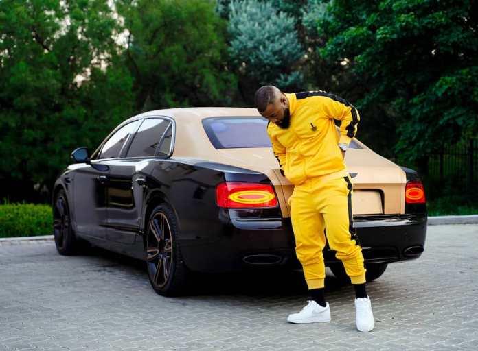 Cassper Nyovest shows off his new Bentley
