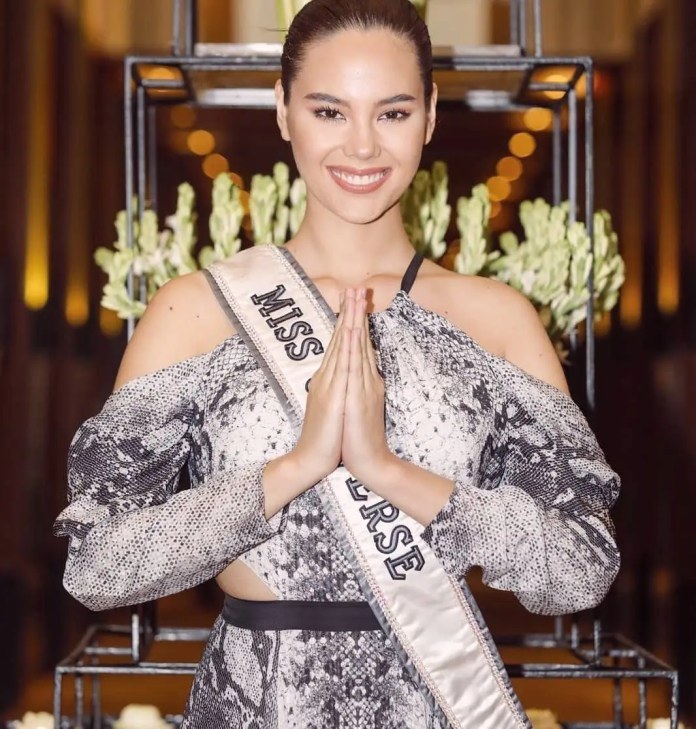 Miss Universe Catriona Gray arrives in SA