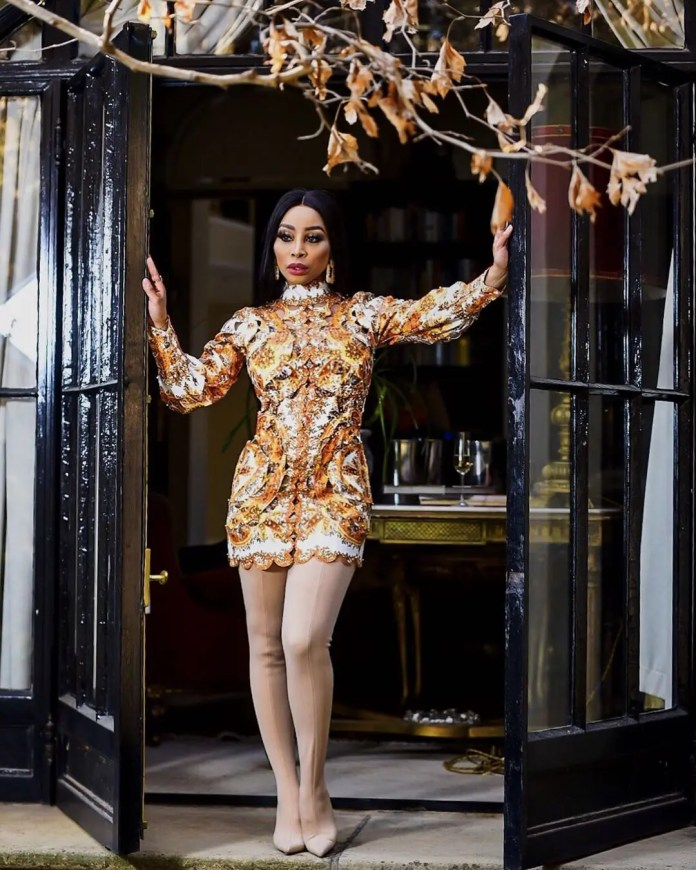 Khanyi Mbau Responds to hater calling her fake