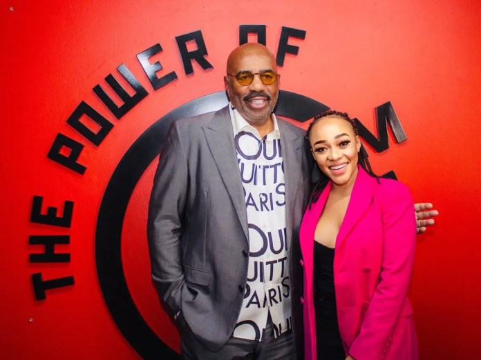 Steve Harvey just tried to set Thando Thabethe up with his son