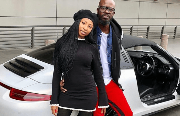 Enhle Mbali rubbishes claims that she is back together with Black Coffee