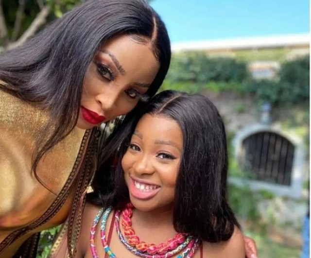 Khanyi Mbau and daughter