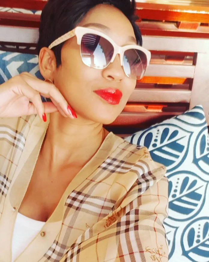 Tweeps blesses actress Kgomotso Christopher with another husband