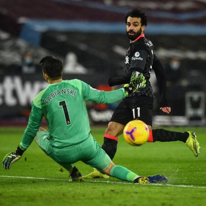 Mohamed Salah scored a delightful double as Liverpool move up to third