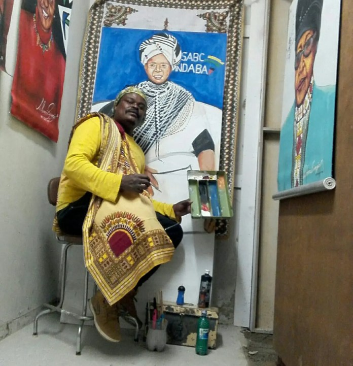 Rasta The Artist fired for his Noxolo Grootboom painting – PICS