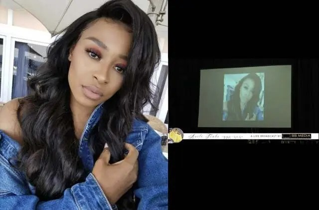 DJ Zinhle Breaks Down As She Addresses Blunder At Anele's Memorial