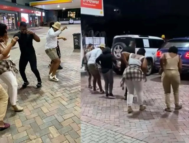 Shauwn Mkhize and her family serve dance moves at a petrol station -Video