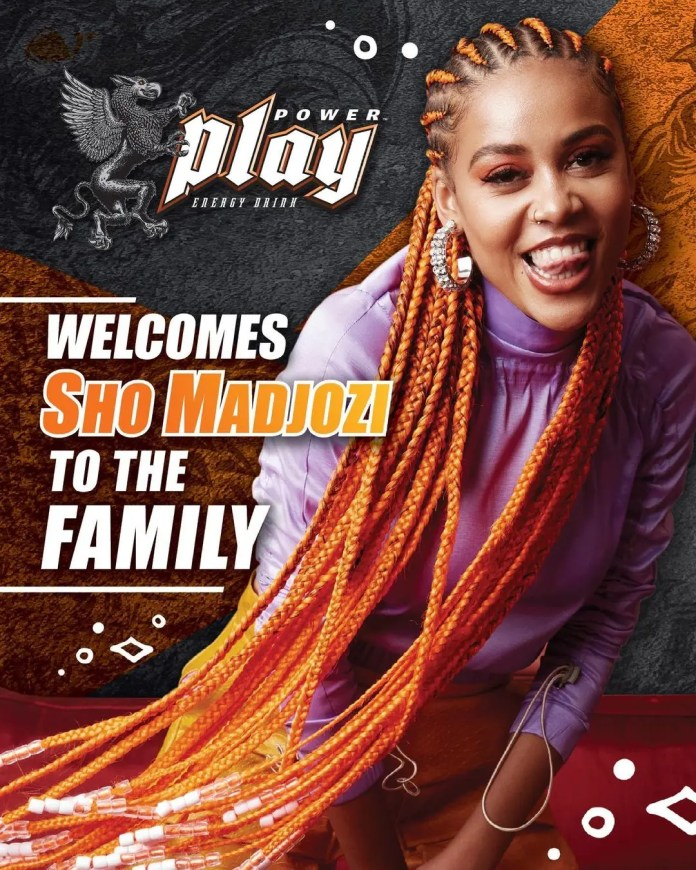 Sho Madjozi partners with energy drink brand Power Play